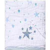 Toalha de Banho Soft Bordada, Papi Textil, Azul