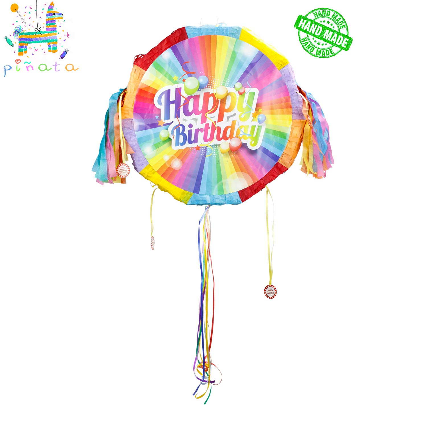 kaimei Pinata for Kids Birthday Anniversary Celebration Decorations Gaming Theme Pet Party Fiesta Supplies with Multicolored Confetti (Happy Birthday) by kaimei