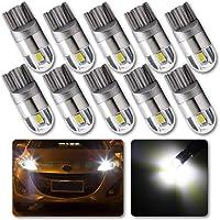 Grandview 10pcs Blanco T10 501 LED Bombilla 2-SMD