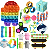 Fidget Toys Set,26 Pcs Simple Dimple Fidgets Toy for Kids Adults Stress Relief and Adult Anxiety Relief ADHD Autism…