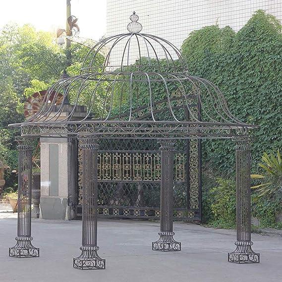CLP redonda de jardín de Carpa Palais De Hierro Estable, diseño sencillo y elegante, diámetro 3, 70 m, altura 440 cm Bronce: Amazon.es: Jardín