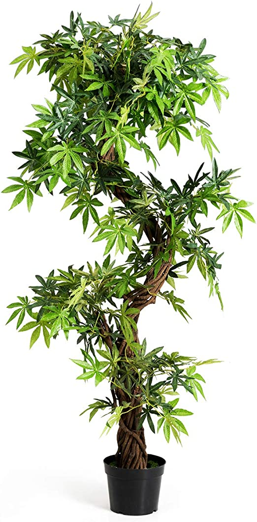 Goplus Fake Tree Artificial Sargent Gloryvine Plants in Nursery Pot  Decorative Trees for Home, Office, Lobby (8ft Sargent gloryvine)