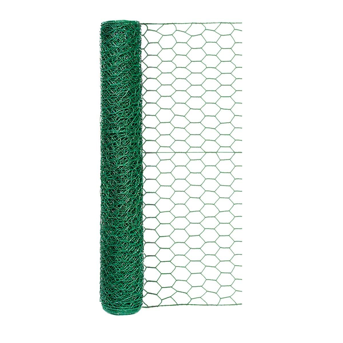 """Origin Point 100050568 20-Gauge 1-inch Green Vinyl Hex Netting 24inx25ft, 24"""" x 25',"""