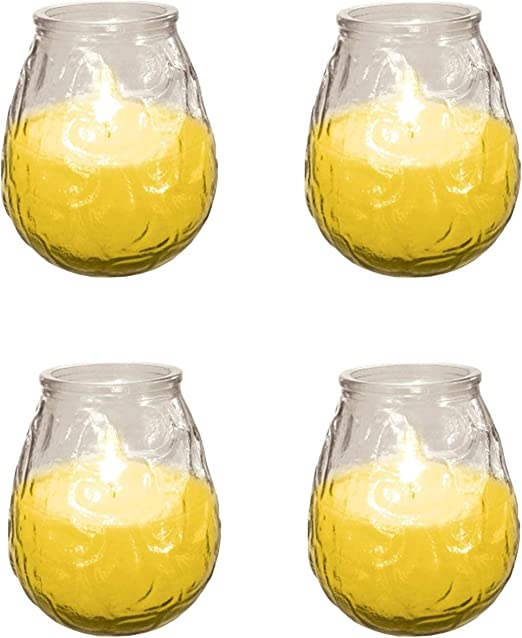 4 x PRICES CITRONELLA GLASS JAR CANDLE 30 HOUR BURN TIME
