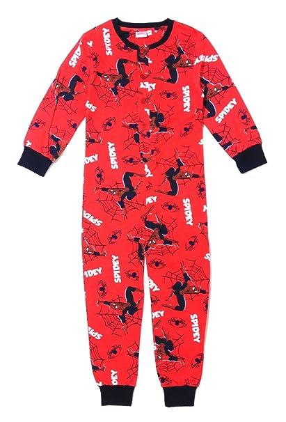 Marvel - Pijama Dos Piezas - para niño Rot Spiderman Fleece Overall 122: Amazon.es: Ropa y accesorios