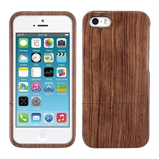 12 opinioni per kwmobile Custodia in legno per Apple iPhone SE / 5 / 5S Cover legno naturale