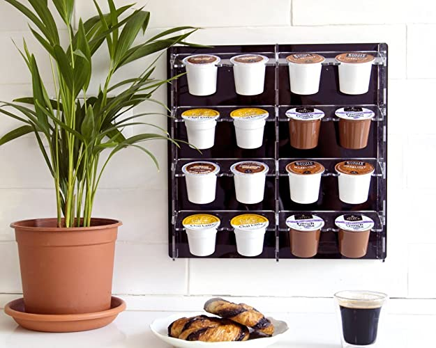 K Cup Coffee Pod Storage Holds 16 K Cups Black Keurig Organizer Magnetic  Wall