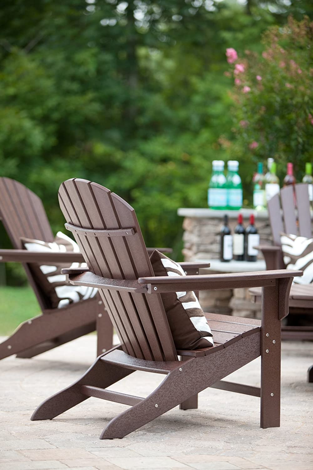 Trex Outdoor Furniture Cape Cod Adirondack Chair, Vintage Lantern : Garden & Outdoor