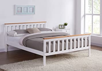 Unmatchable Wooden Bed Frame Pine Oak Top Single Double King Size