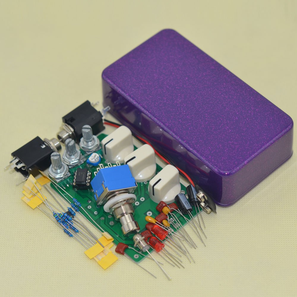 DIY Distortion Effects Stompbox Kit Shining Purple DS-1 No Holes