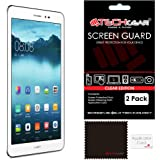 "[Pack of 2] TECHGEAR® Huawei MediaPad T1 8.0 (8"" Screen) ULTRA CLEAR Screen Protector Guard Covers with Screen Cleaning Cloth & Application Card"