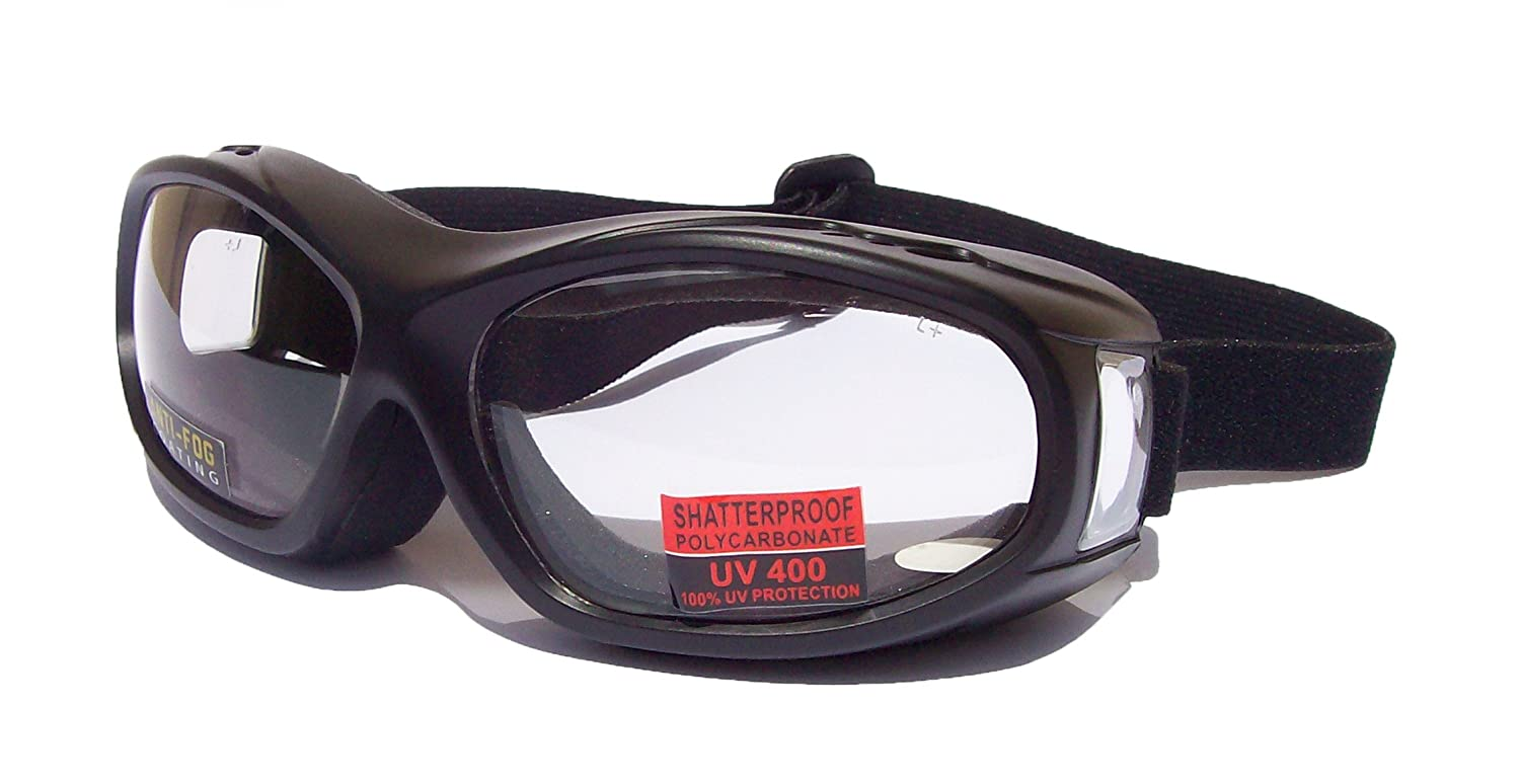 Flight OTG [Over The Glasses] Motorbike Biker Riding Goggles |Clear Lens Lanes Eyewear USA