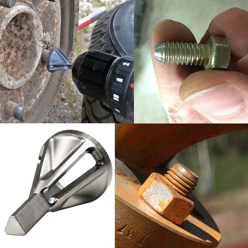 argent HLHN Lot de 2 forets universels pour /ébavurage en acier inoxydable pour m/étal aluminium plastique cuivre
