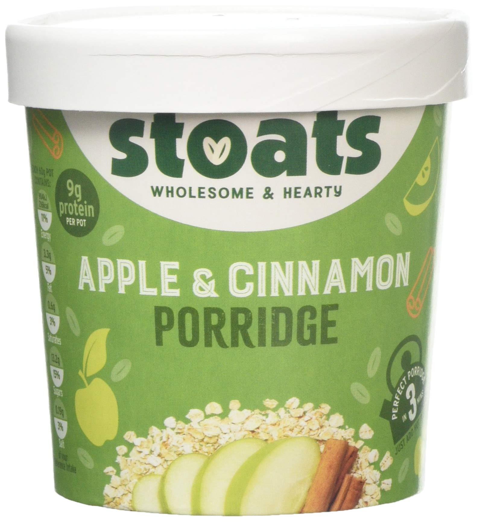Stoats Apple and Cinnamon Porridge Pot 20 g Pack of 20  Buy ...