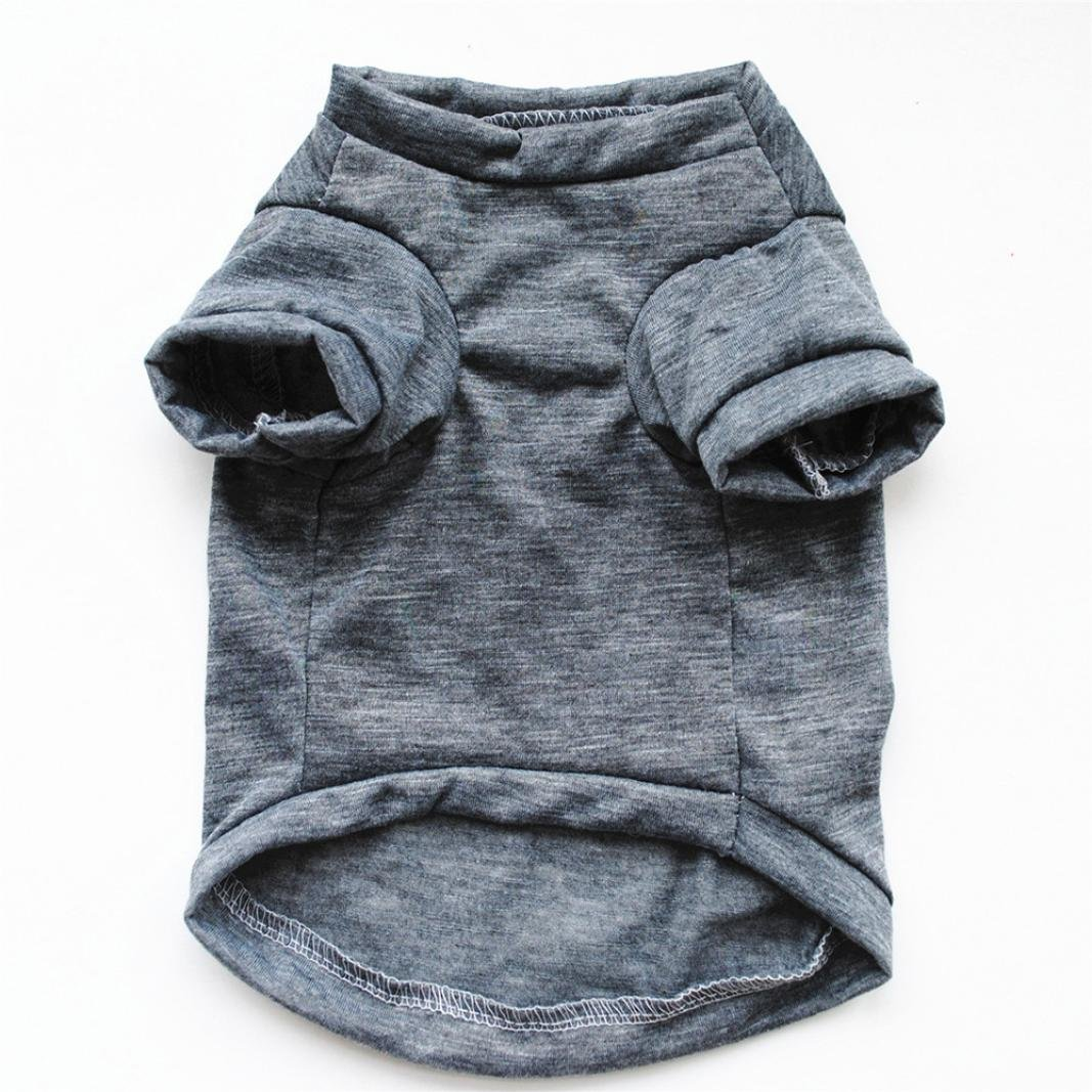 Hot Sale!!Small Dog Cat Pet Puppy Summer Shirt Clothes Vest T-Shirt (XS, Gray B) by Woaills (Image #4)