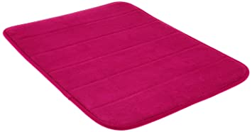 Perfect Dreamkingdom Soft Collection Memory Foam Bath Mat, 17 By 24 Inch, Hot Pink