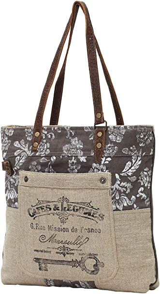 Amazon Com Myra Bags Old Key Upcycled Canvas Tote Bag S 0738 Tellus integer feugiat scelerisque varius morbi enim. myra bags old key upcycled canvas tote bag s 0738