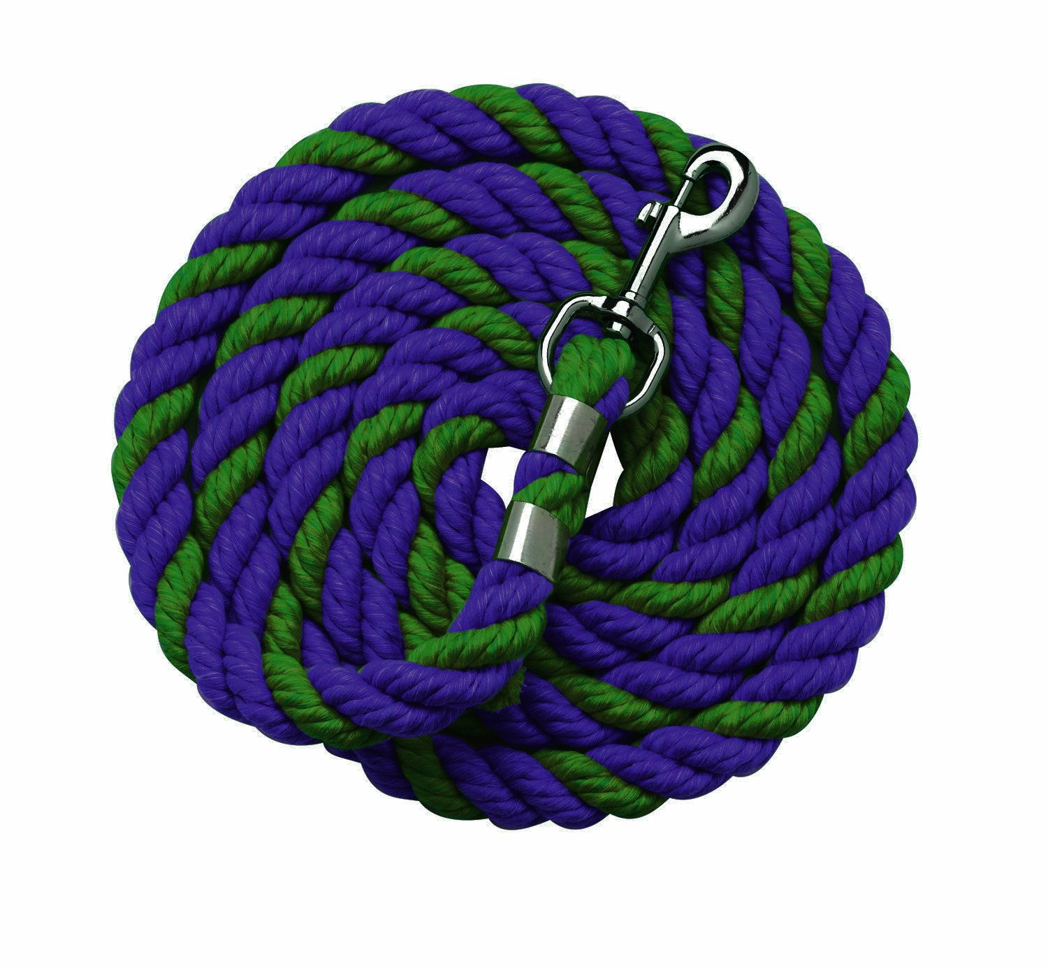 Navy Hunter Green Perri's Cotton Multi-colord Leads, 6-Feet