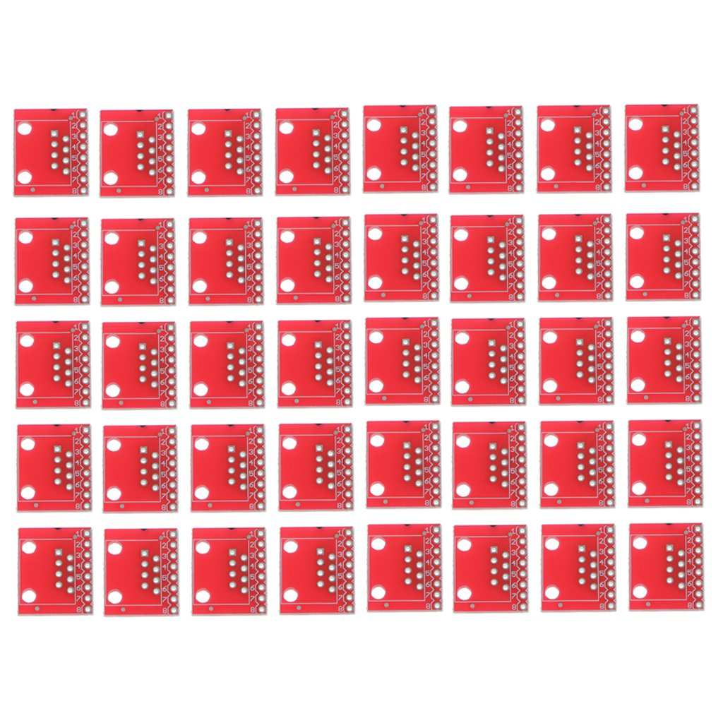 MagiDeal 40pcs Placas de Conectores M/ódulo PCB Peque/ño Electr/ónica RJ45 Enchufes Ethernet Conexiones 8 Pines