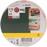 Bosch 2607019491 Lot de feuilles abrasives pour Ponceuse excentrique Grain 40/125 mm 25 pièces