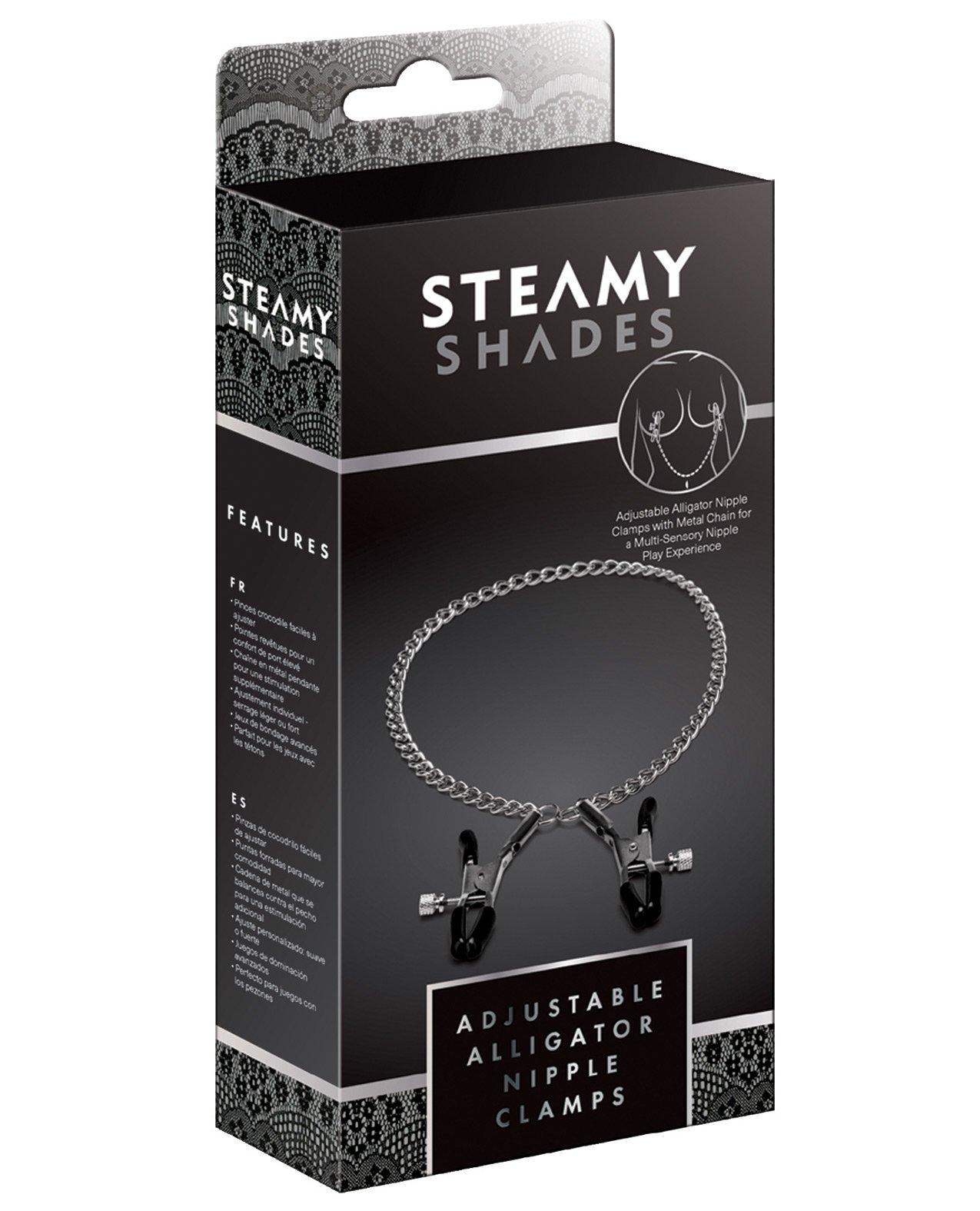 Steamy Shades Adjustable Alligator Nipple Clamps