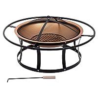 Feuerstelle XXL Stahl bronze Fire Pit ✔ rund