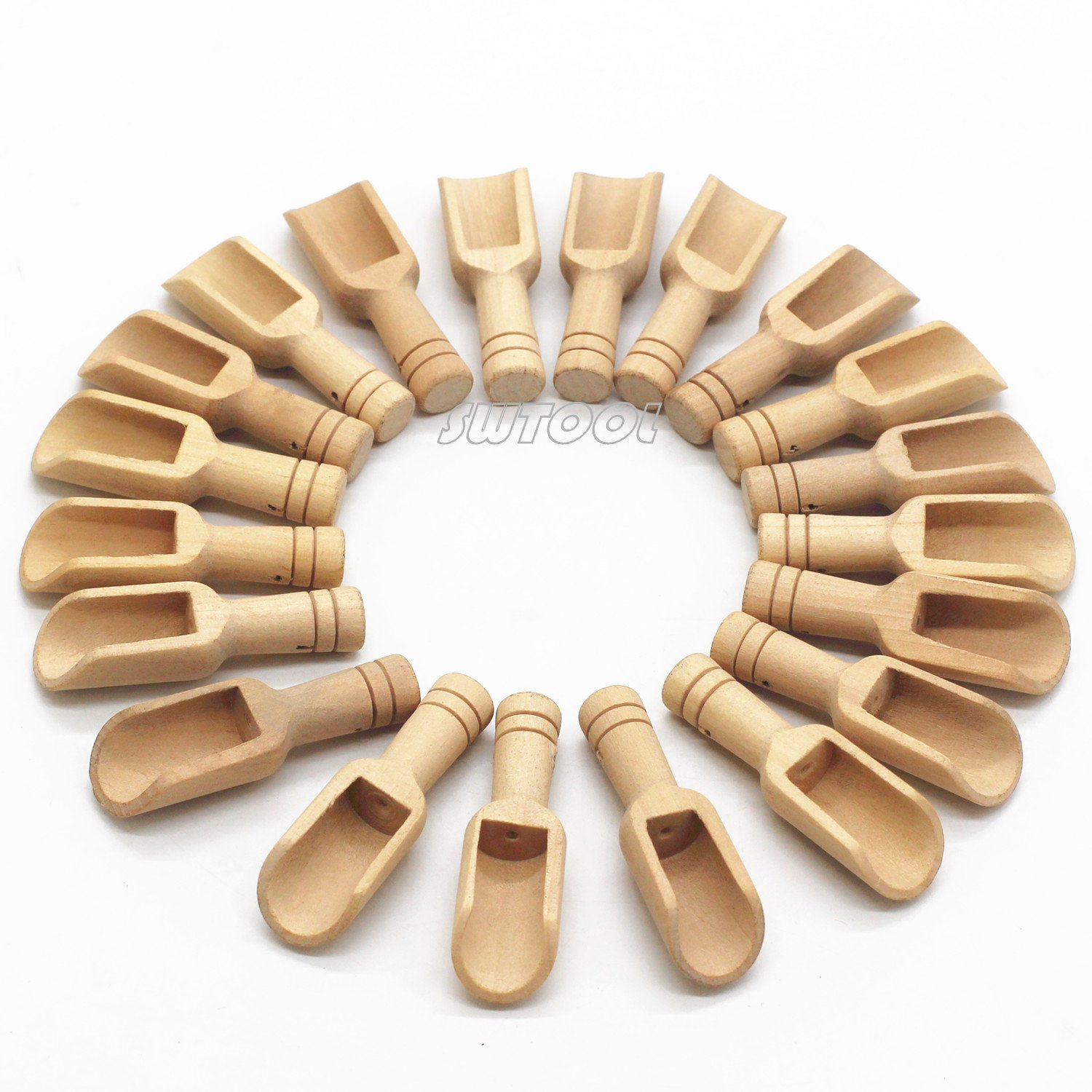 Selling Wonderful 20PCS 3'' Long Mini Wood Scoop