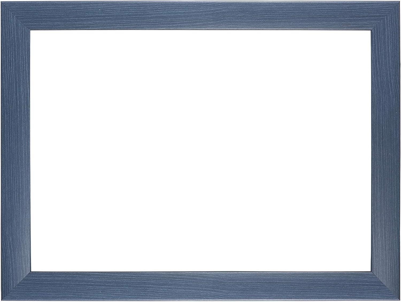 Duisburger-Rahmen24 DR24 Cadre Photo 10x10 sur Mesure Cadre en Bois MDF de 35 mm de Largeur INCL vitre en Verre synth/étique antireflet paroi arri/ère Stable Bleu ardeuse Crochets et Fixations