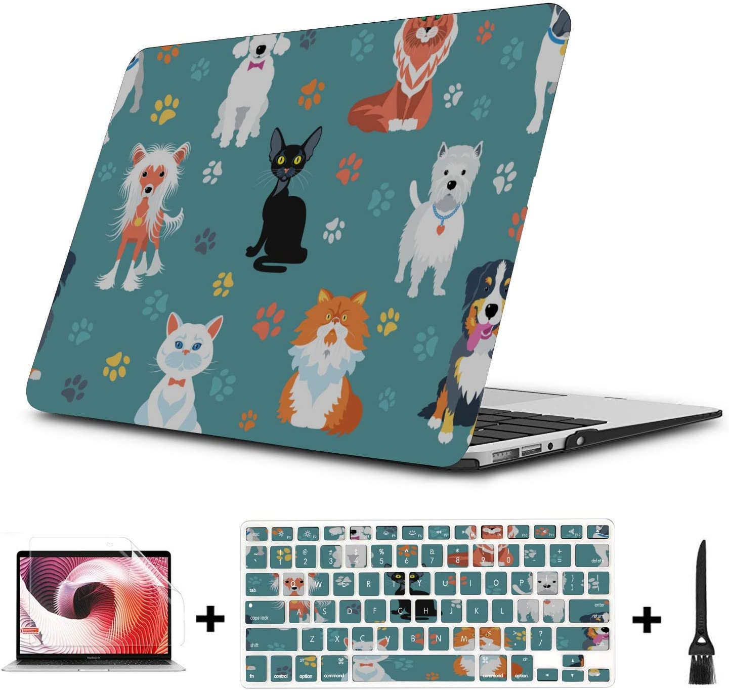 Case for MacBook Air Serious Creative Fashion Painting Plastic Hard Shell Compatible Mac Air 11 Pro 13 15 MacBook Air 2017 Case Protection for MacBook 2016-2019 Version