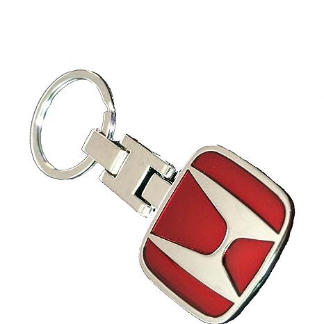 Rojo Aleación Coche 3d llavero llavero para Honda Logo ...