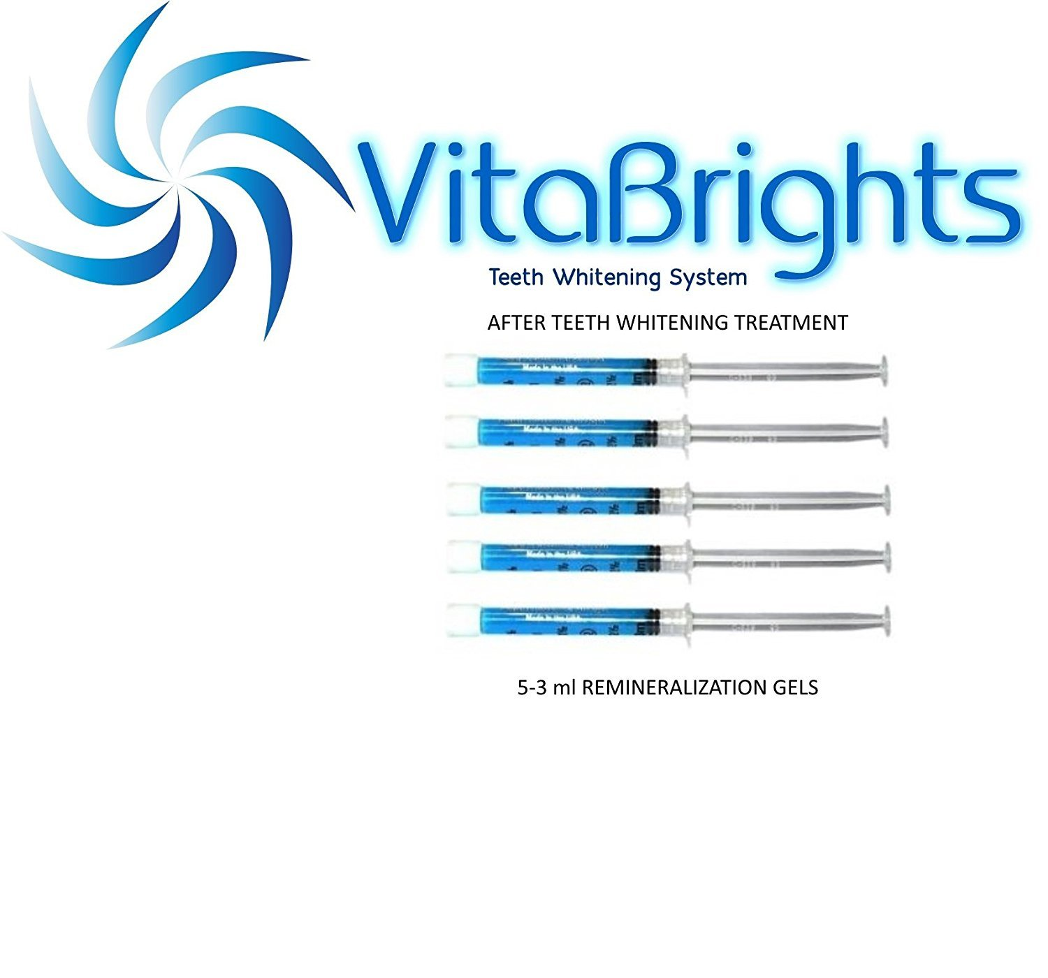 VitaBrights 5-3ml REMINERALIZATION GELS FOR AFTER TEETH WHITENING TREATMENT