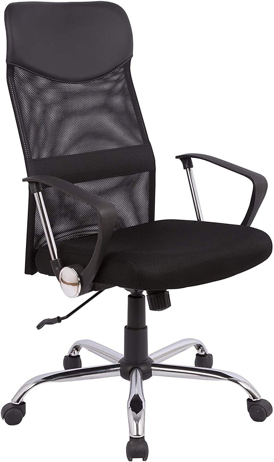 Ergonomic Mesh Office Chair, High Back Desk Chair, Office Swivel Chair with Adjustable Height, Lumbar Support and PU Wheels, Swivel Computer Task Chair