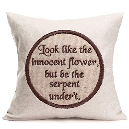 Amazon Inspirational Quotes Cotton Linen Embroidery Like