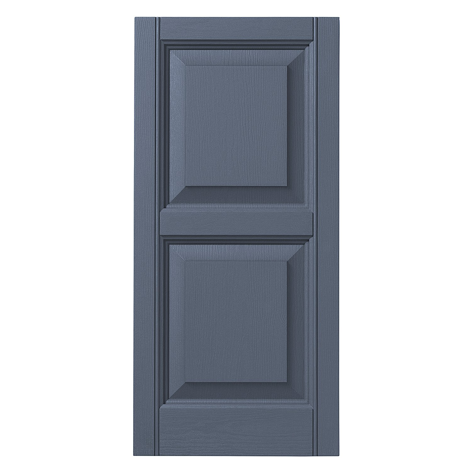 Ply Gem Shutters and Accents VINRP1543 41 Raised Panel Shutter, 15'', Blue