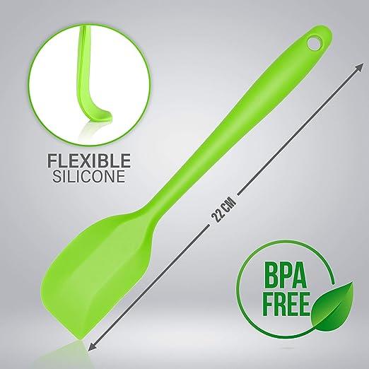 Green 22cm Belmalia 2X Silicone Spatula Ergonomic Handle