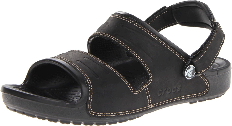Crocs Yukon Two-Strap Sand, Zuecos Para Hombre 41/42 EU Nero (Black/Black)