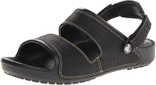 Crocs Yukon Two-Strap Men's Sandals - BlacK 6 UK (39-40 EU