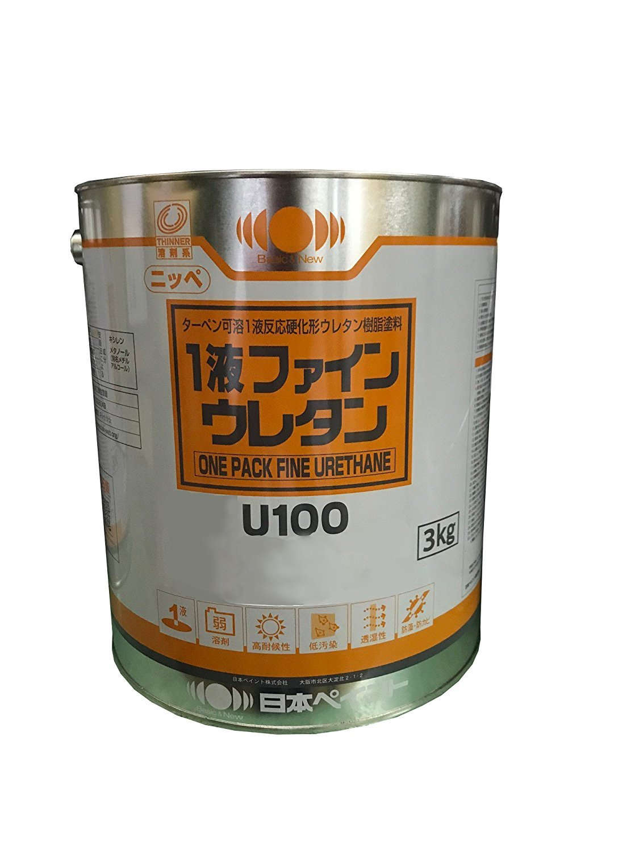日本ペイント 一液ファインウレタンU100 3kg (NP-1fineurethaneU100-19-65A-3KG) B077TMW3CL