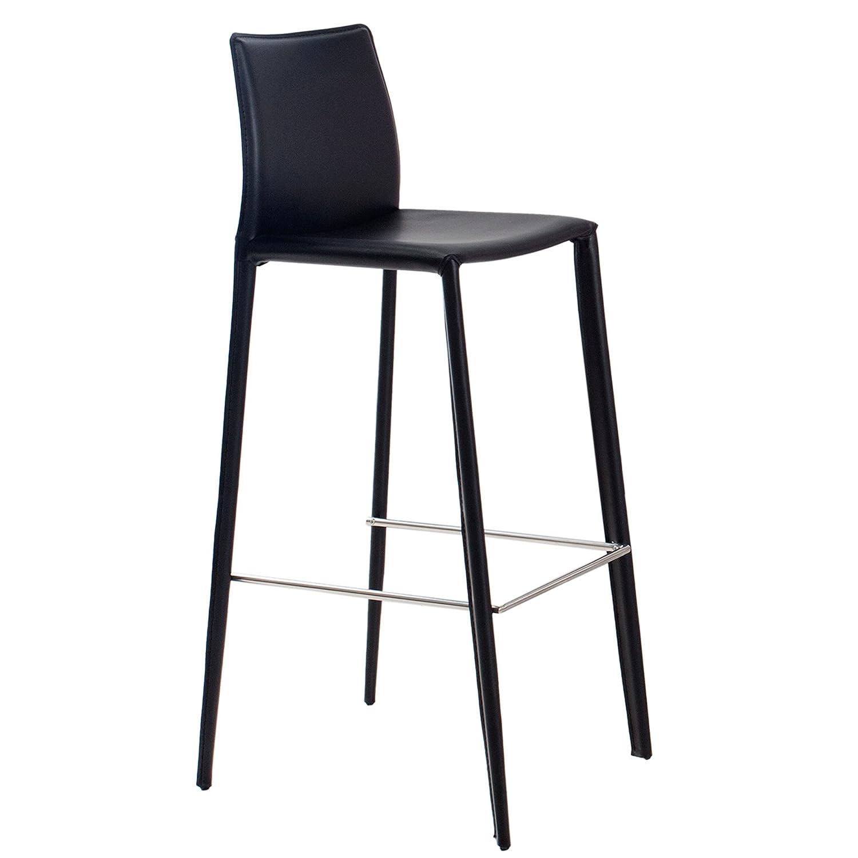 Exklusiver Design Barstuhl MILANO ECHT LEDER schwarz Barhocker Hocker Hausbar Hausbar Hausbar 1e56e8