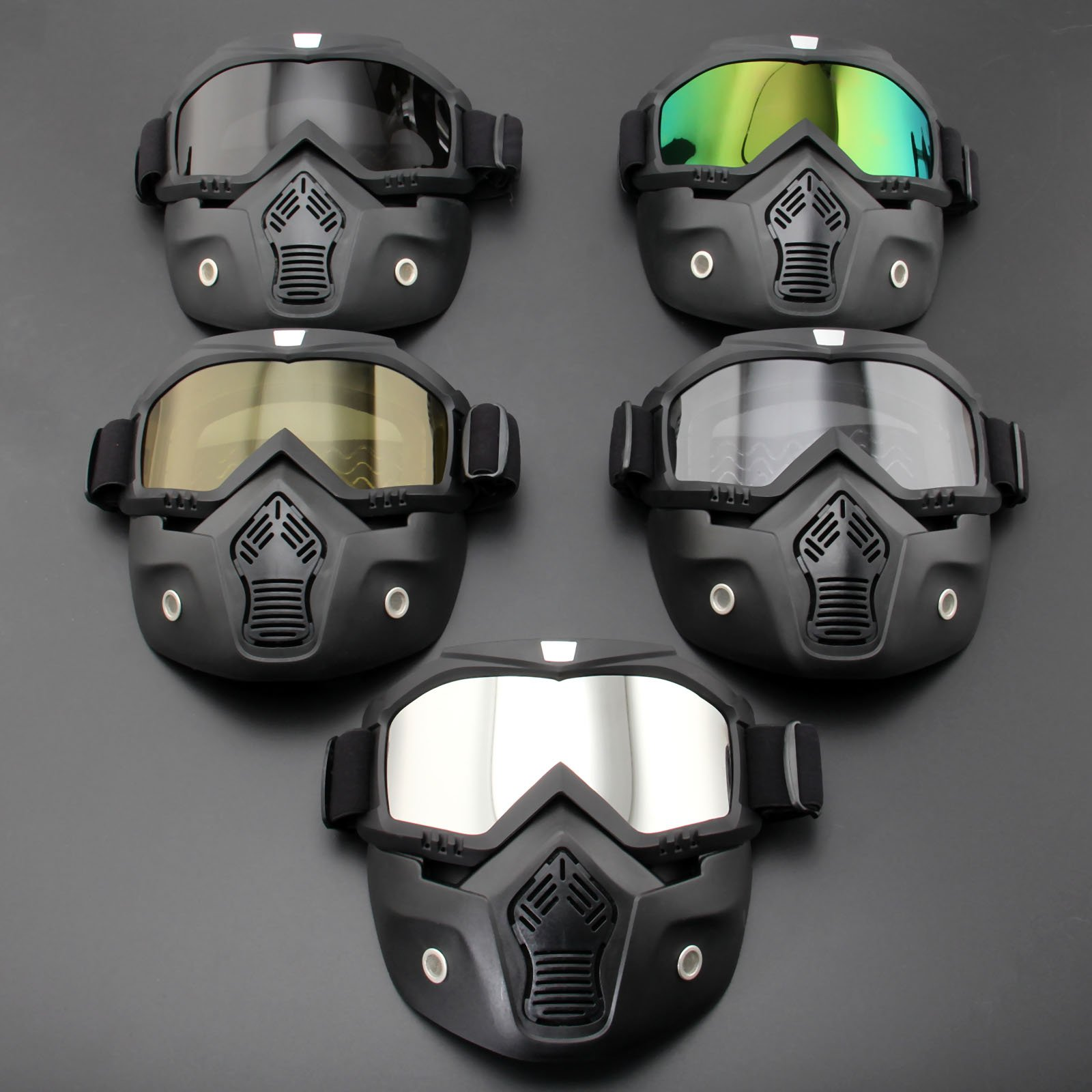 KPAZProducts Motorcycle Tactical Face Mask (Multicolor)