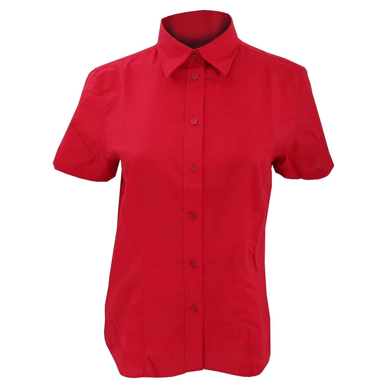 KUSTOM KIT Ladies Workwear Oxford Short Sleeve Shirt
