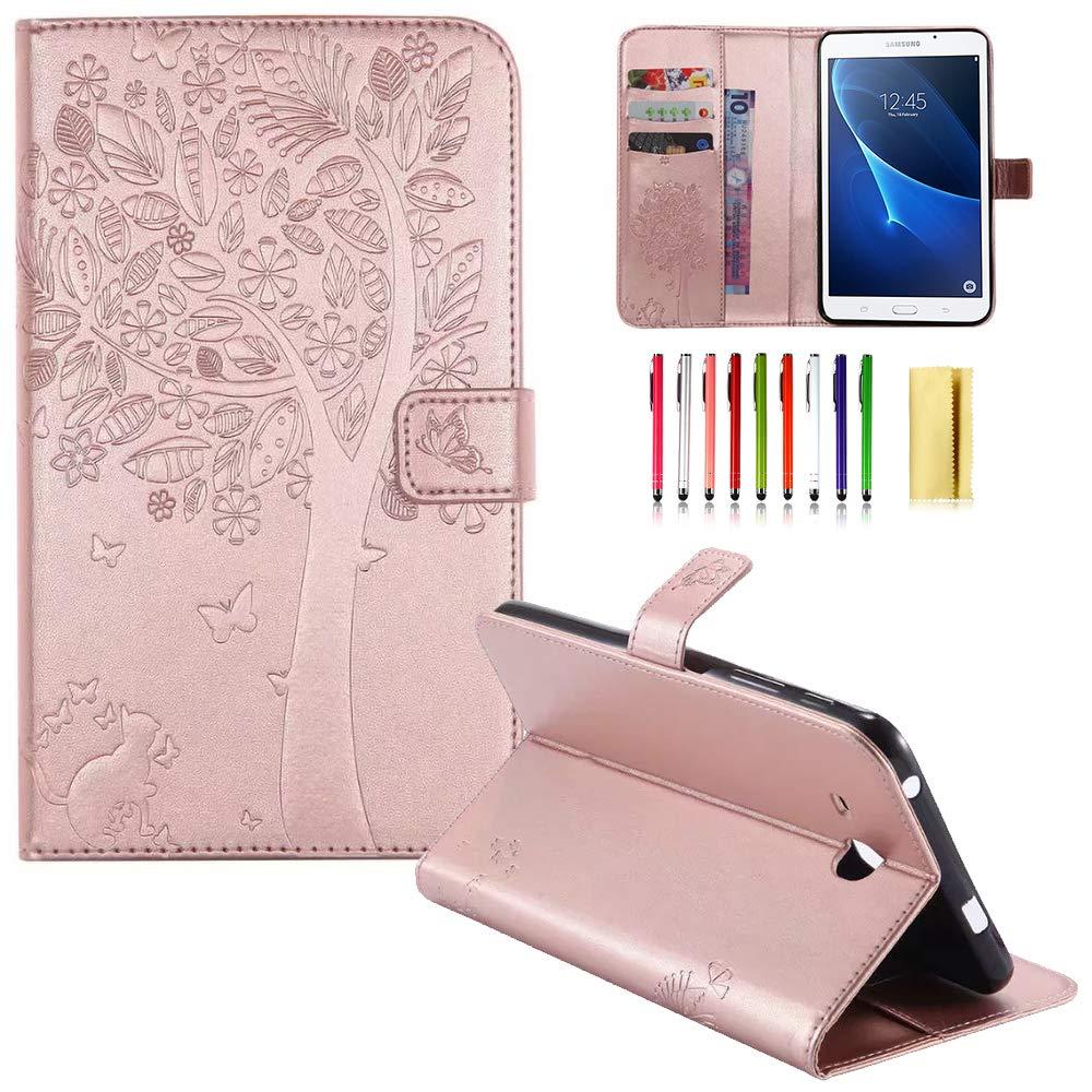 人気沸騰ブラドン UUcovers Galaxy Tab 04 A 7.0用ケース エンボス加工 PUレザー B07KYC6VQF フリップスタンド A 保護ケース 自動ウェイク/スリープ機能付き Samsung Galaxy Tab A 7.0インチタブレット SM-T280/SM-T285用 04 Rose Gold B07KYC6VQF, オモテゴウムラ:4d660d9a --- a0267596.xsph.ru
