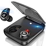 【進化版】Bluetoothイヤホン高音質ワイヤレスイヤホンIPX7完全防水両耳75時間連続駆動充電ケース付 ハンズフリー通話 マイク内蔵Siri対応タッチ式ブルートゥースイヤホンiPhone/Android対応