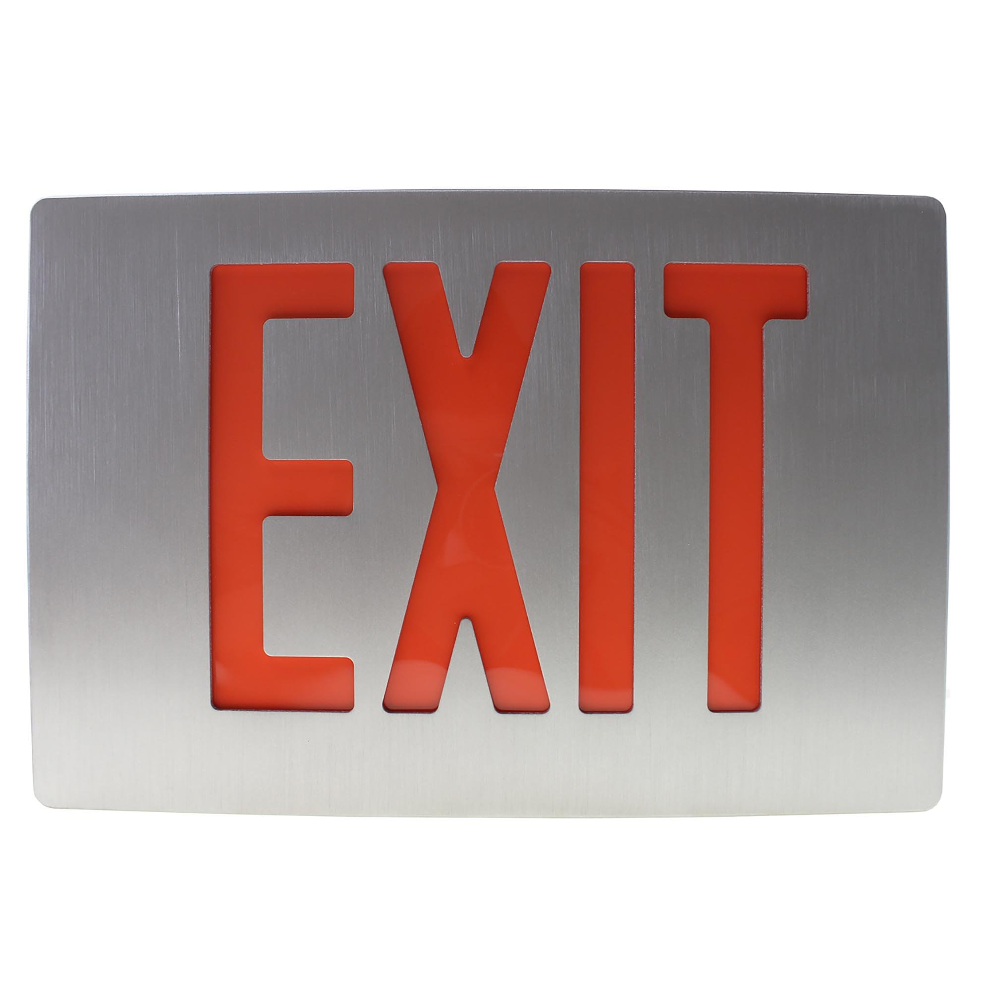 Day-Brite McPhilben ER55LD3R Die Cast Aluminum LED Exit Sign, Red, 120/277V