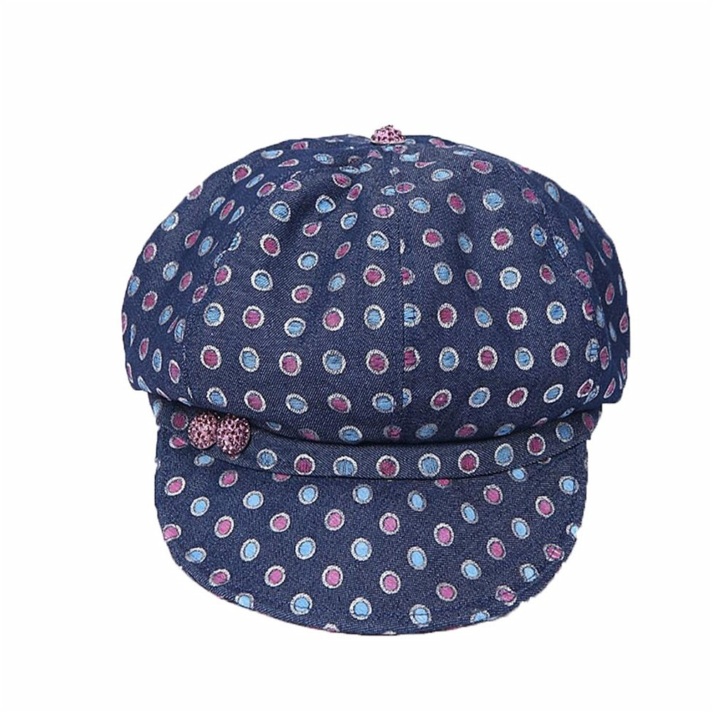 Shuo lan hu wai Frühlings- und Sommersaison Lady Denim Hat and Farbe Wave Point Cap