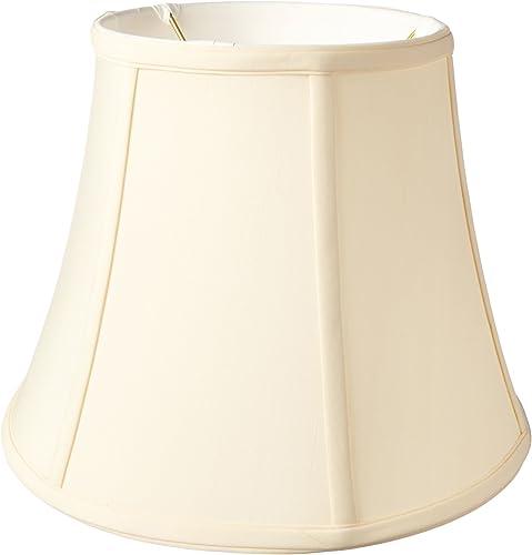 Royal Designs BS-708U-12EG Modified Bell Lamp Shade, Eggshell, 7.5 x 12 x 9.5, UNO Floor Lamp