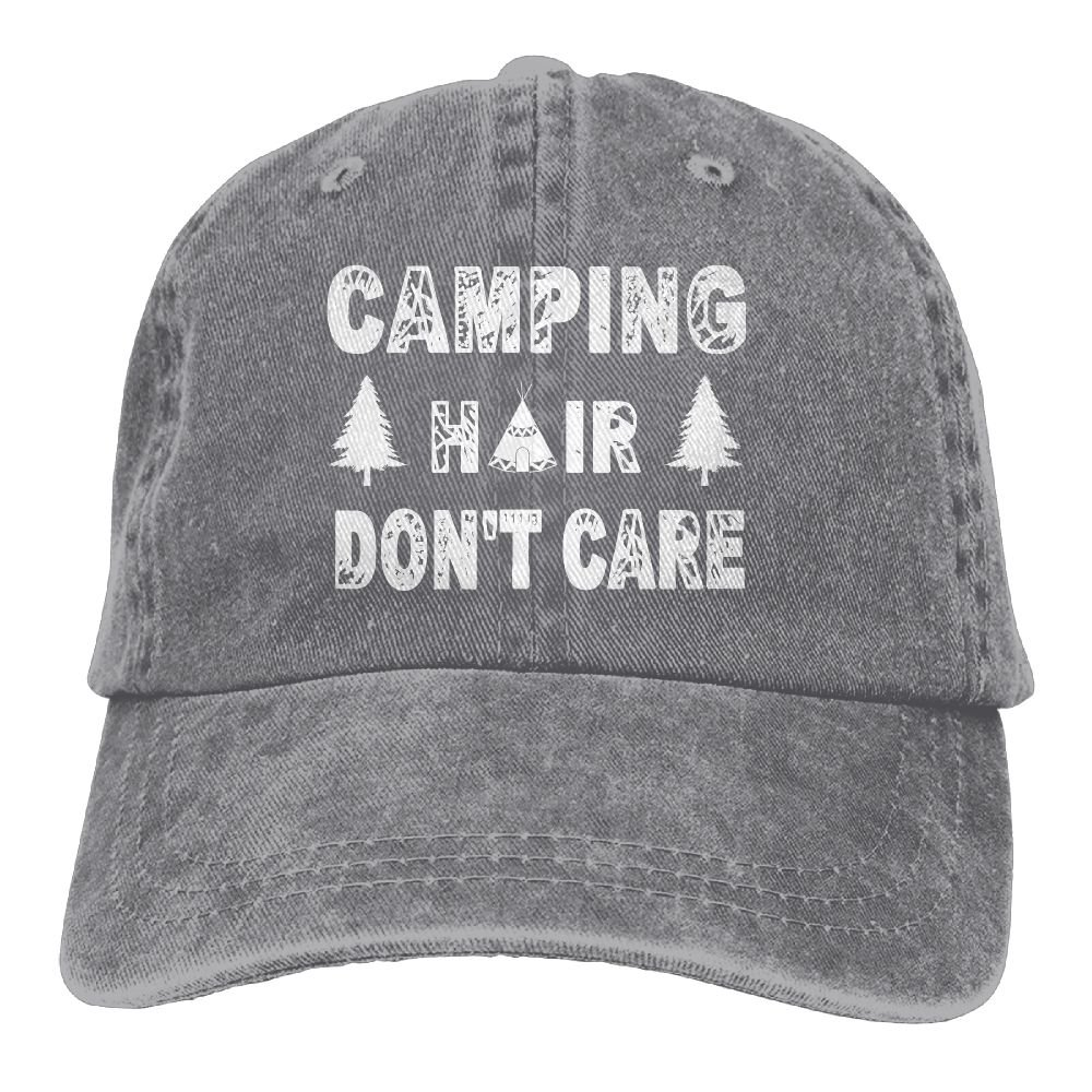 SARA NELL Unisex Dad Hat Camping Hair Don't Care Vintage Adjustable Baseball Cap