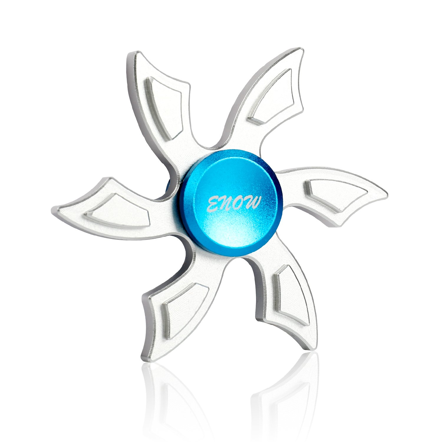 Enow Newest Hands Spinner, Enow Pure Aluminum High Speed Fidget focus toys. Perfect for ADHD, EDC Children and Adults to Increase Concentration, Quit Bad Habits, Spins Metal Average 1-5 Minutes