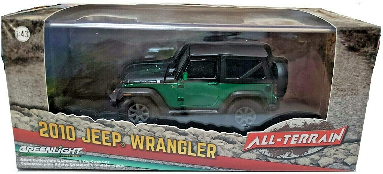 Greenlight 86079 2014 Jeep Wrangler Unlimited All Terrain 1:43 Green Machine
