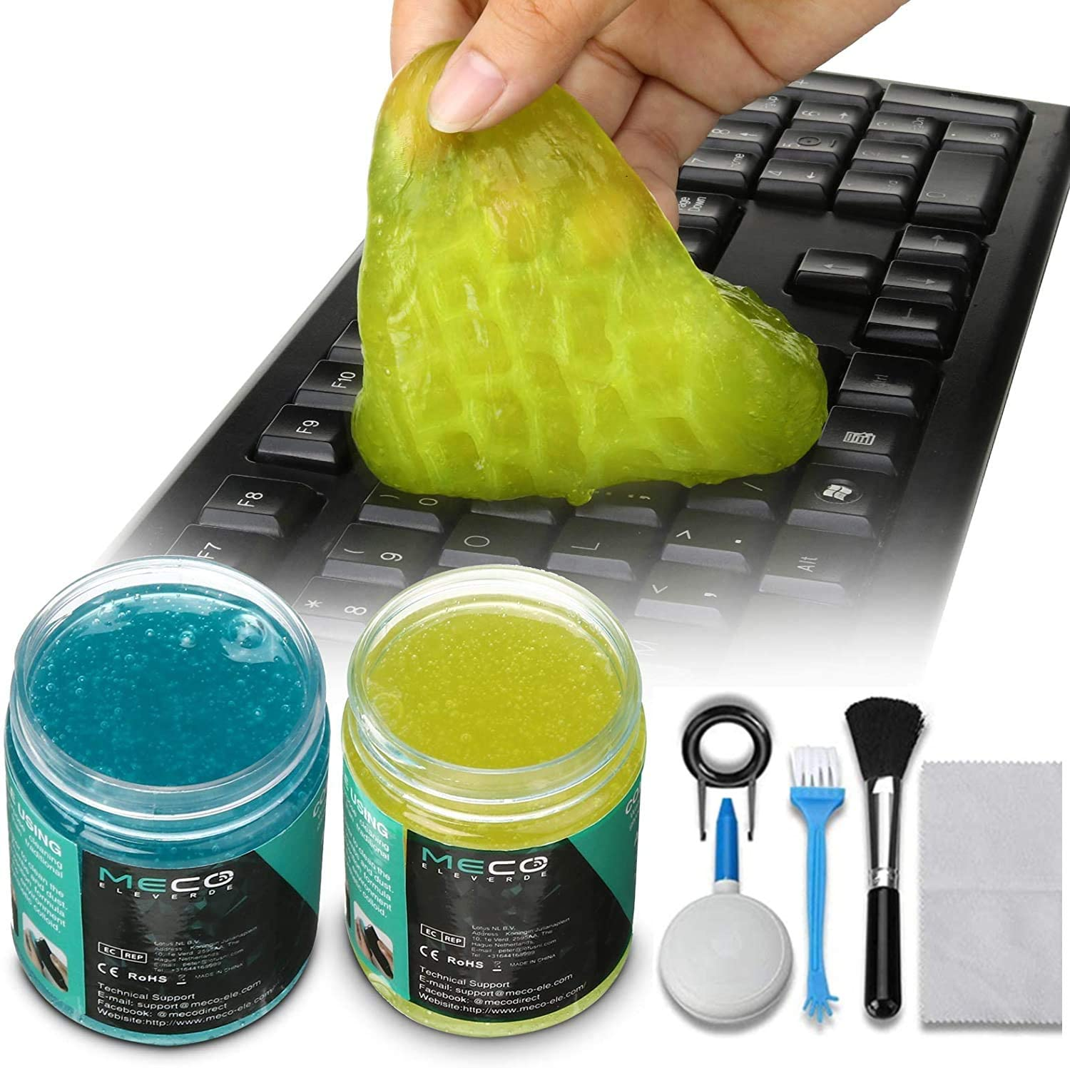 Car Vents Calculators Dust Removing Cameras Keyboard Cleaner Adhesive Universal Cleaning Gel Magic Cleaner for PC Tablet Laptop Keyboards Printers